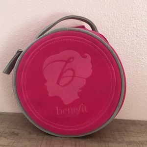 Benefit Cosmetics Hot Pink Small Round Makeup Bag